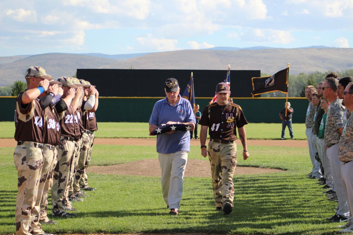 Military baseball game