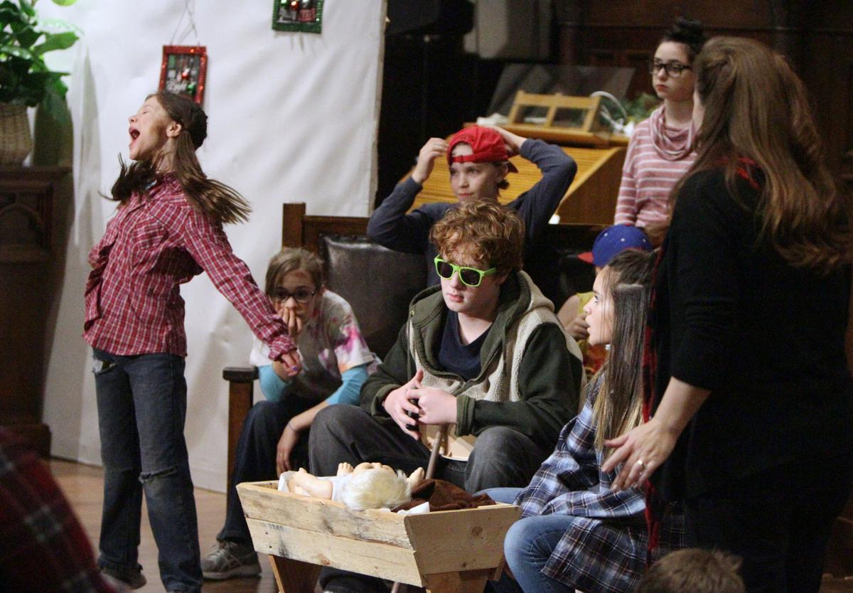 christmas play rehearsal - The Best Christmas Pageant Ever Play