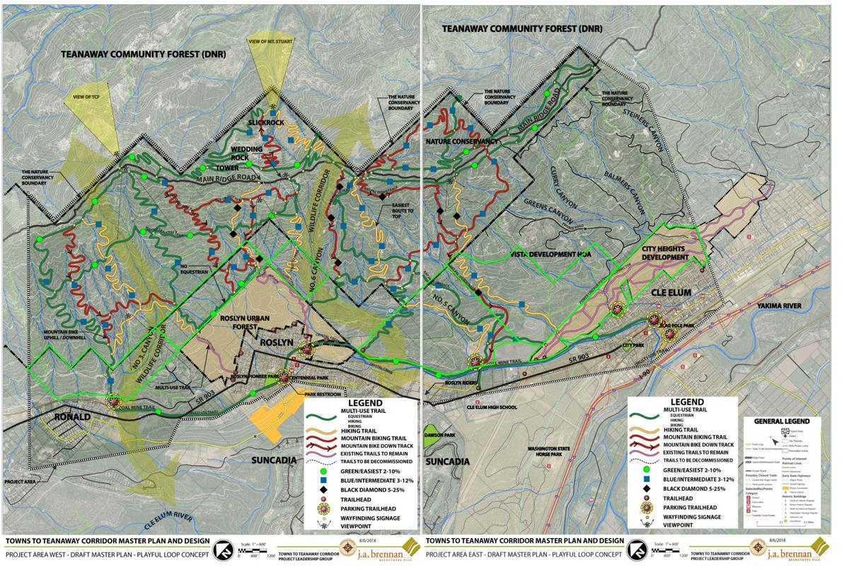 Final Draft Of Trail Map For Towns To Teanaway Project Presented At