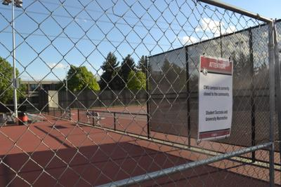 CWU tennis courts