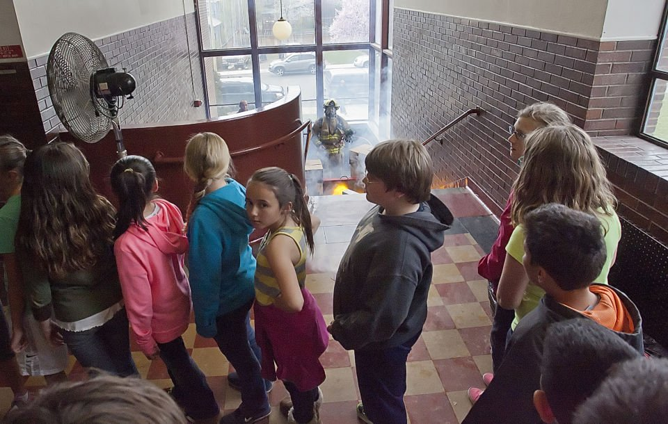 Lincoln Elementary School Holds Realistic Fire Drill For