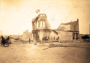 Fire officials past and present discuss the famous fire of 1889