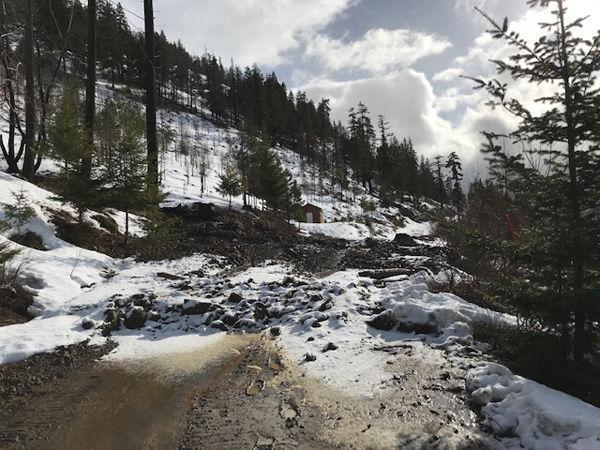 Mudslide reported in Morgan Creek area
