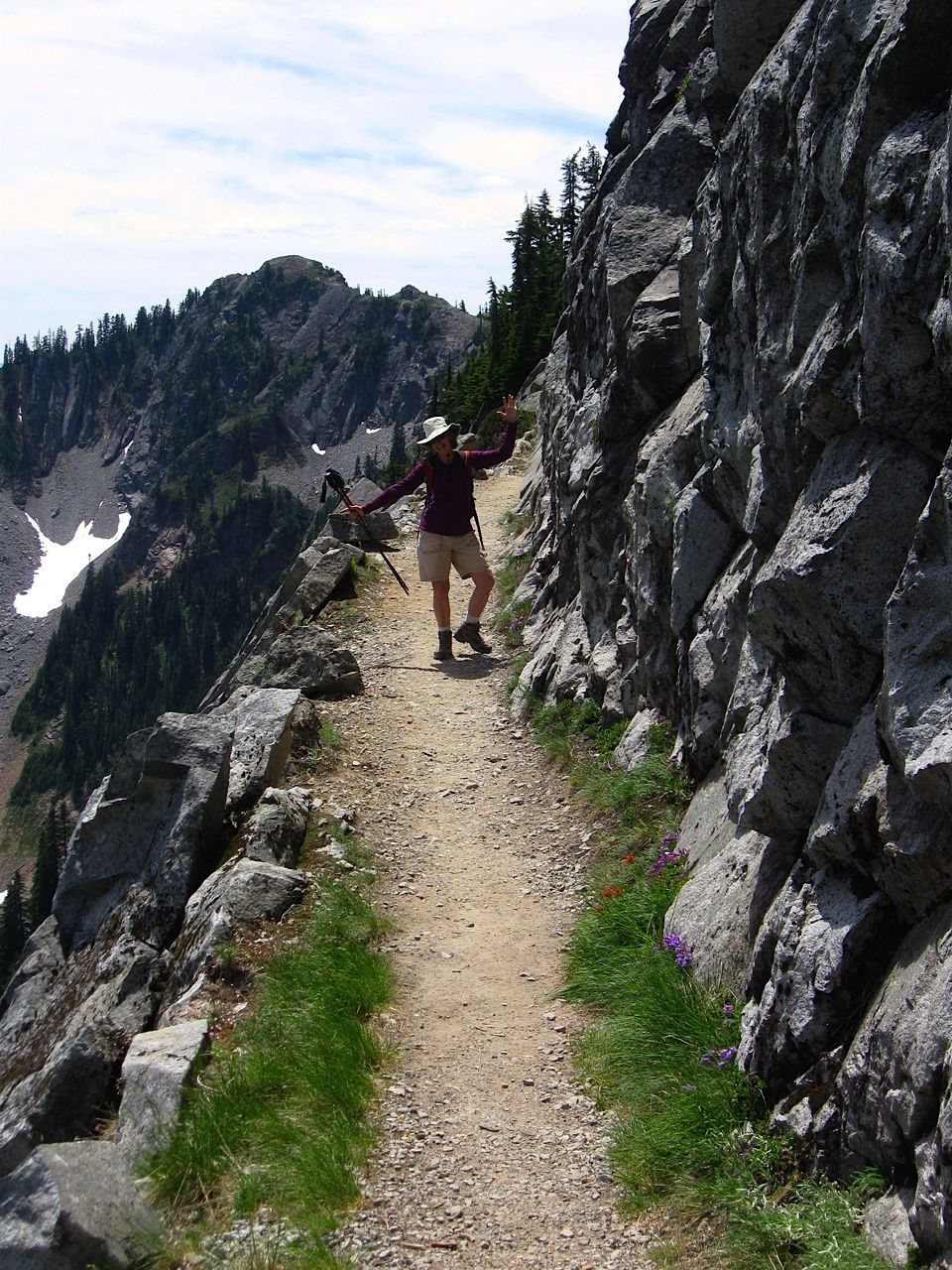 Taking on a section of the Pacific Crest Trail near