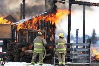 Pfenning Road barn fire