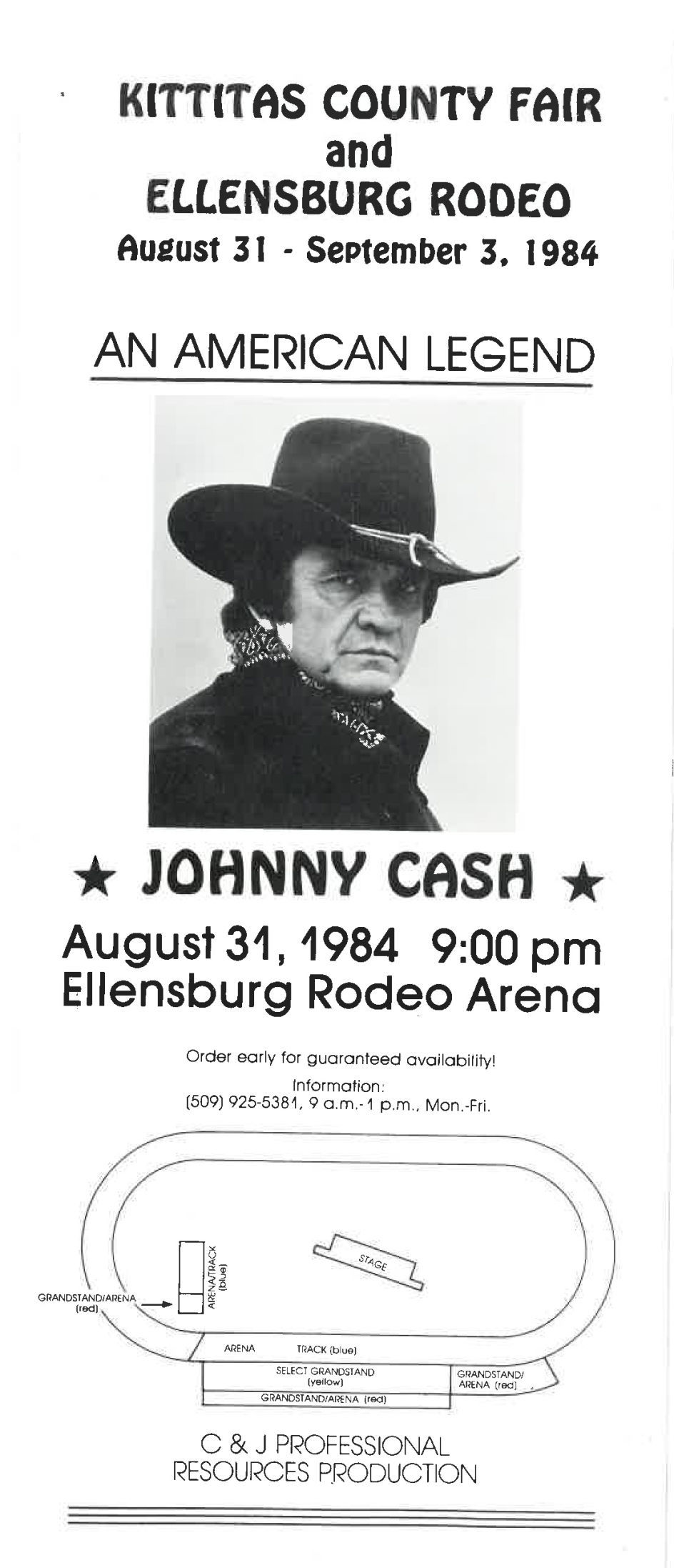 Johnny Cash Ellensburg Rodeo