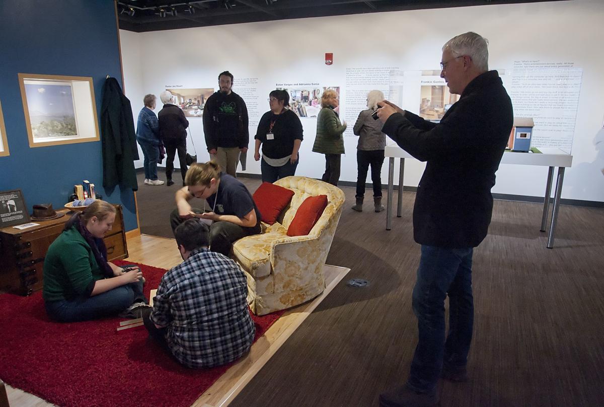 Living Room exhibit opening