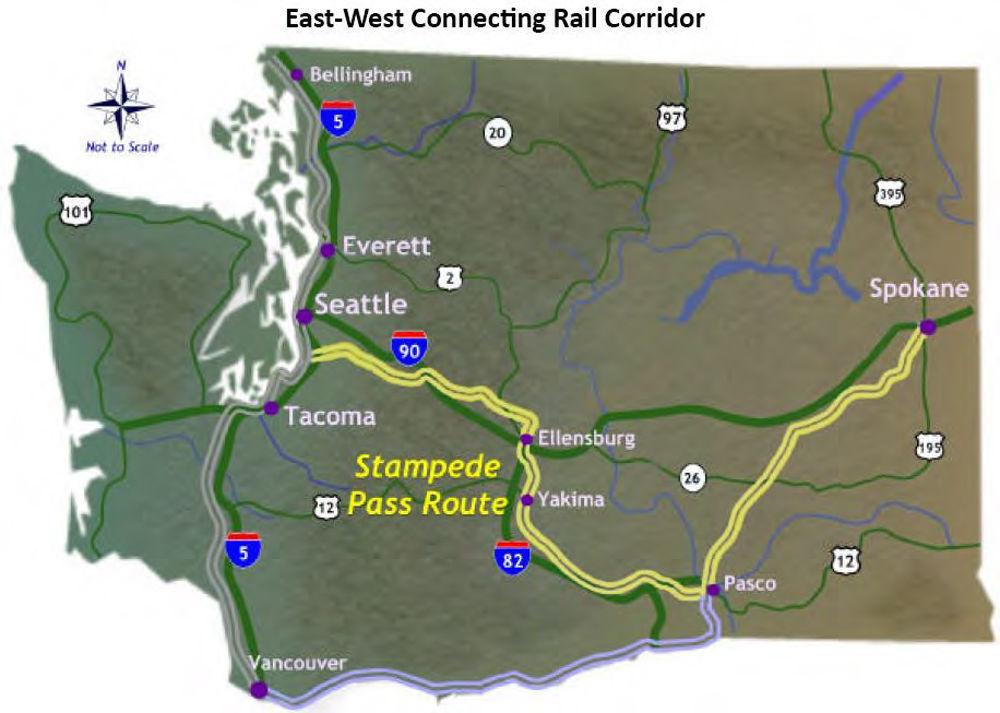 SeattleSpokane route part of highspeed rail study Business