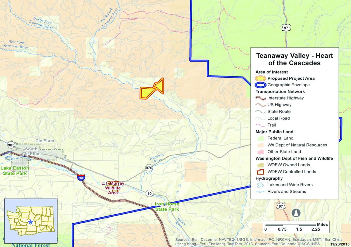 WDFW Proposes Teanaway Acquisition Members Dailyrecordnewscom - Map us land acquisitions