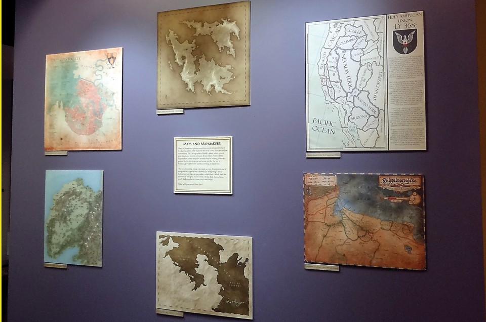 CWU exhibit explores the maps of imaginary worlds