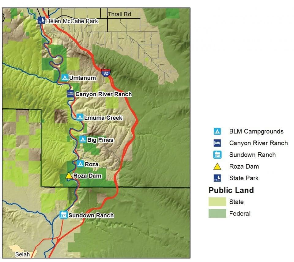 Yakima River Canyon Map