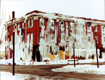 The Webster Hotel On Corner Of Pearl Street And Third Avenue After A Fire In January 1980 Ellensburg Public Library