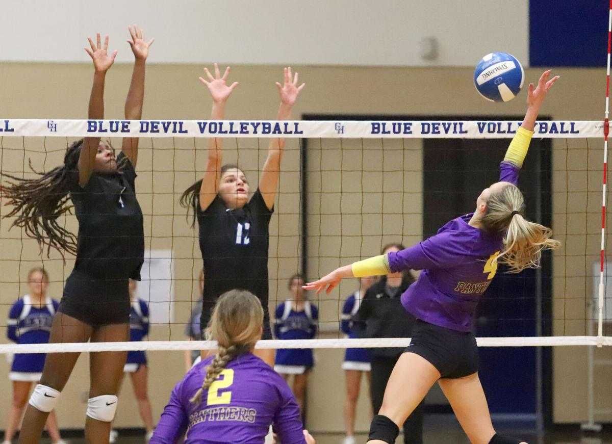 Central Heights volleyball vs. No. 15 Lufkin