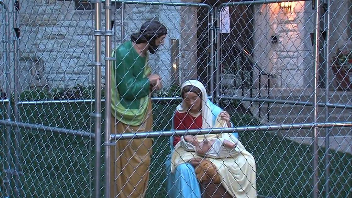 Image result for PHOTO OF CAGED JESUS