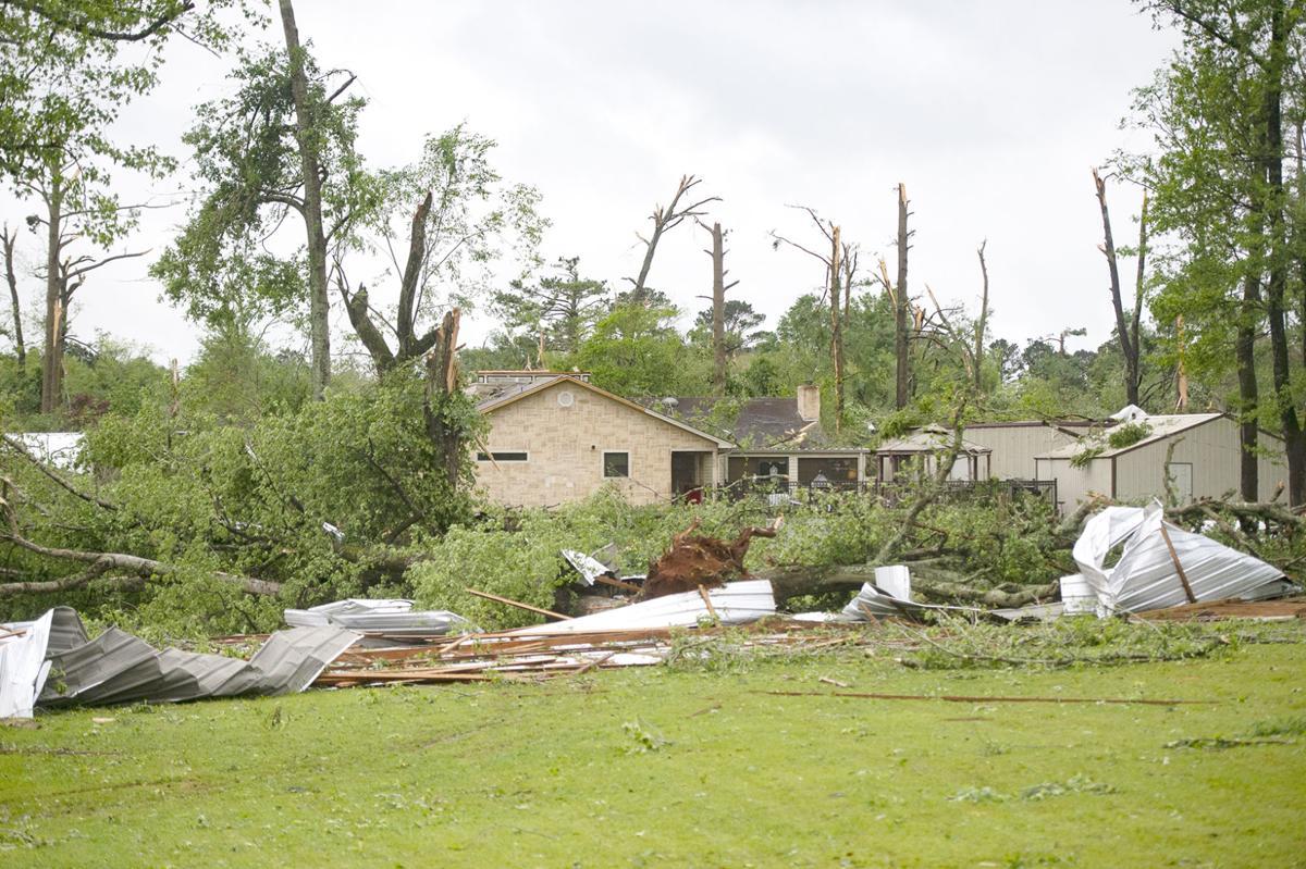 Storm damage in San Augustine, April 25, 2019.