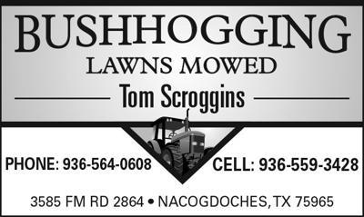 Tom Scroggins Bushhogging