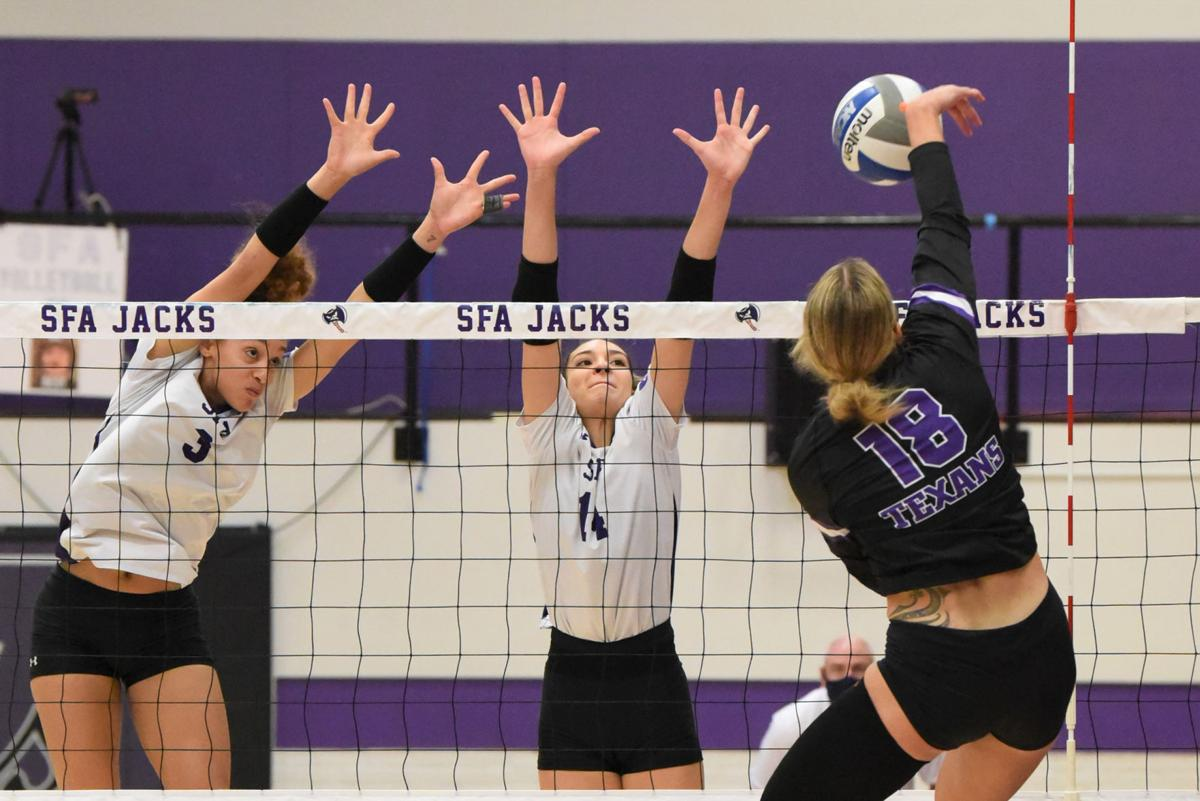 SFA Volleyball action