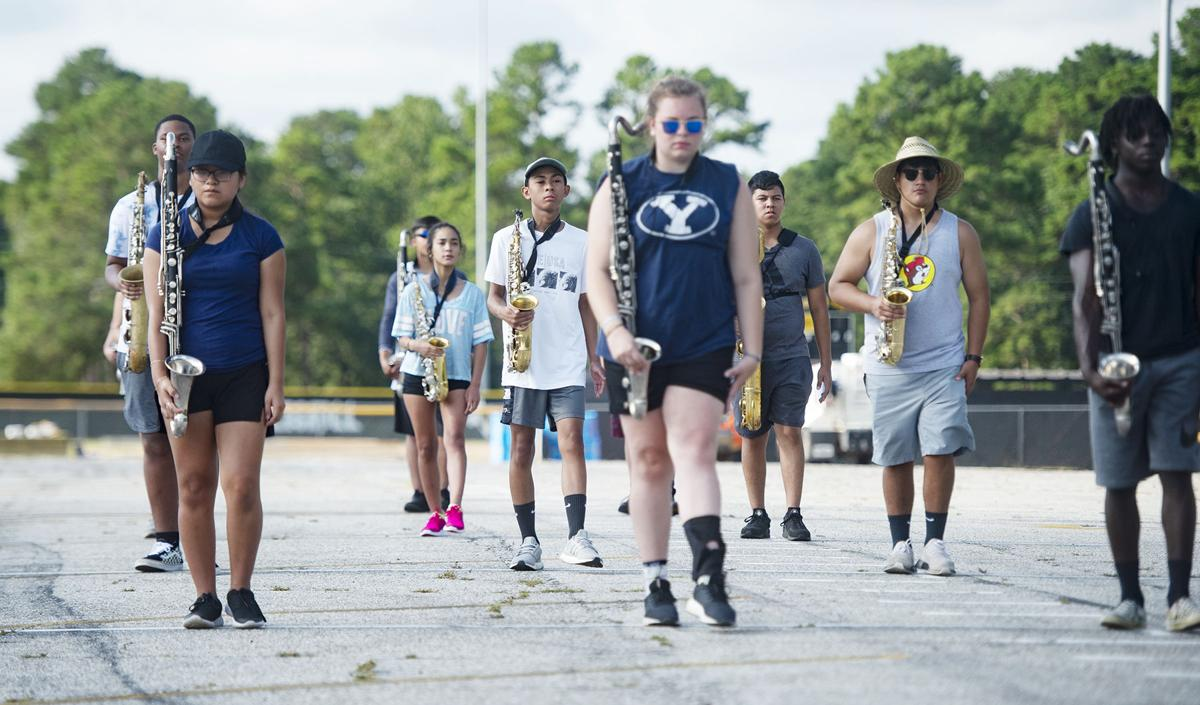 NISD marching band practice, Aug. 6, 2019.
