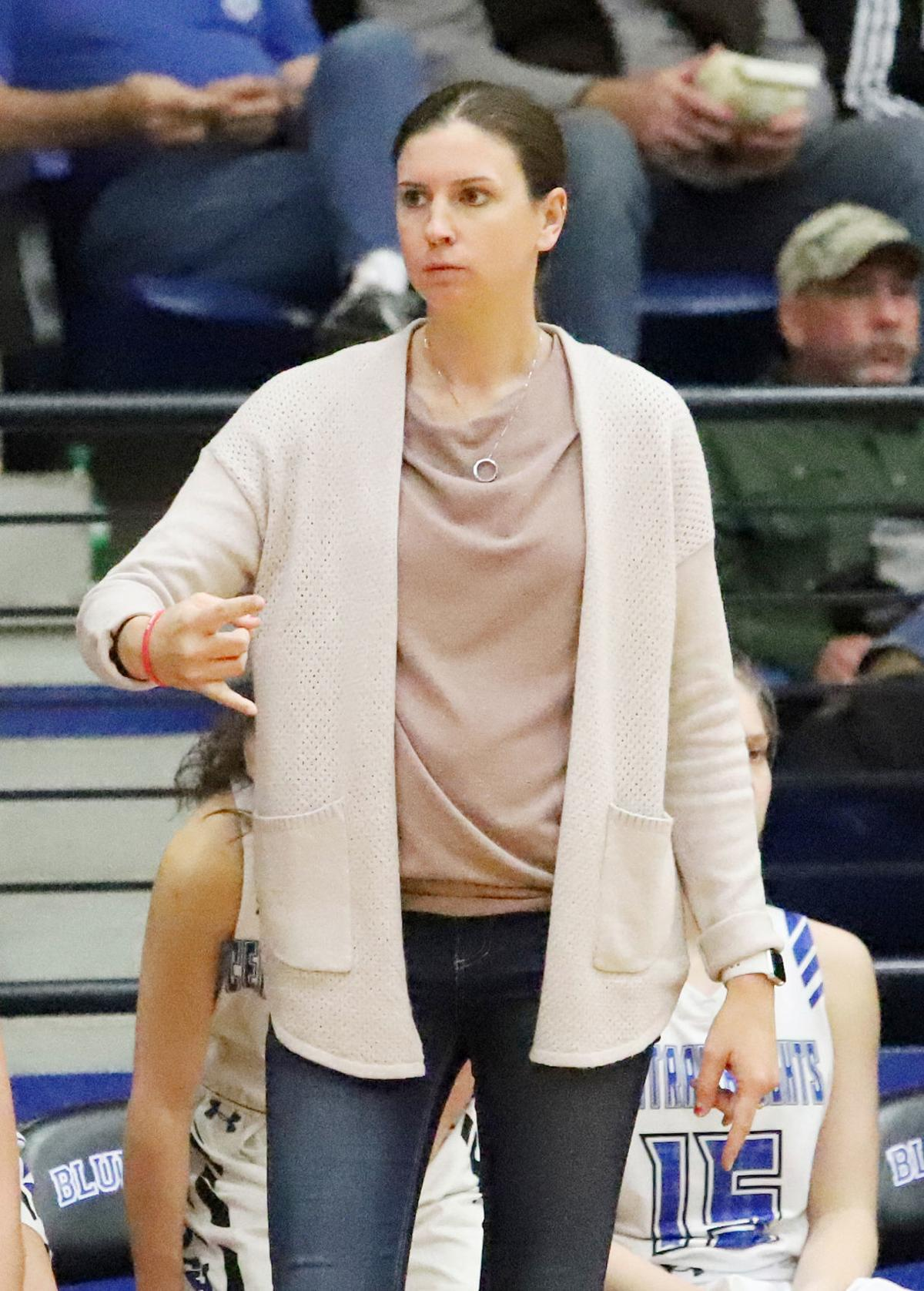 Central Heights head coach Danielle Templeton