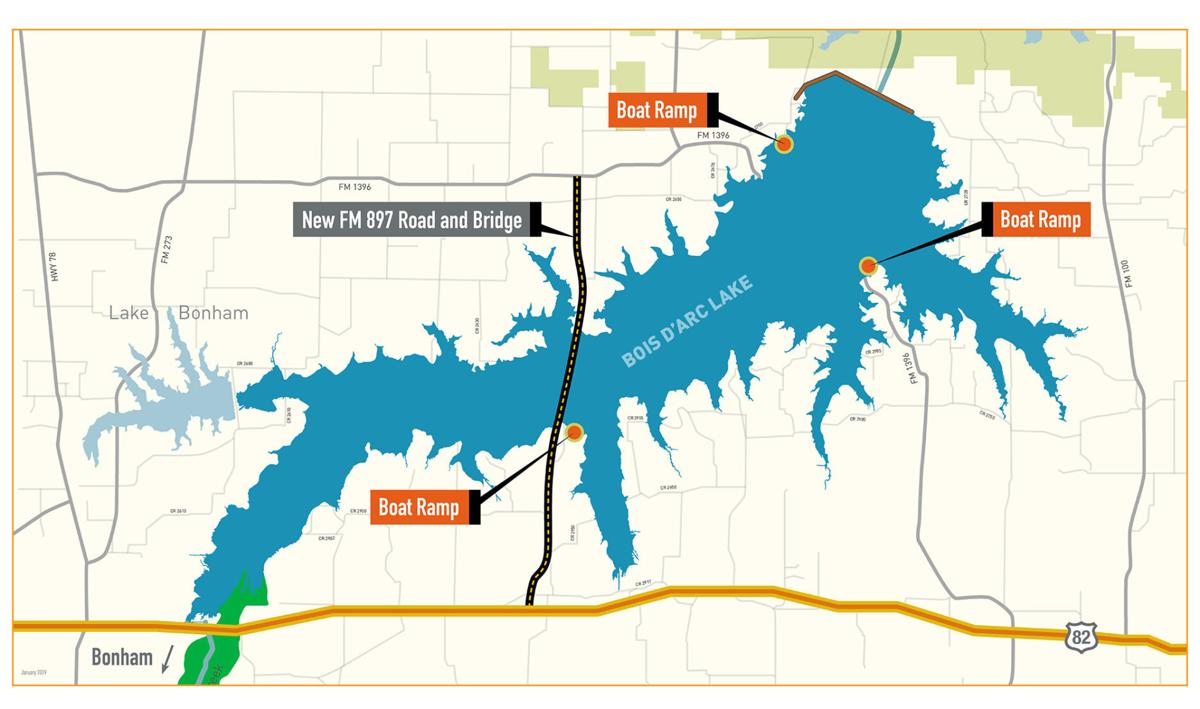 Map of the newest East Texas reservoir