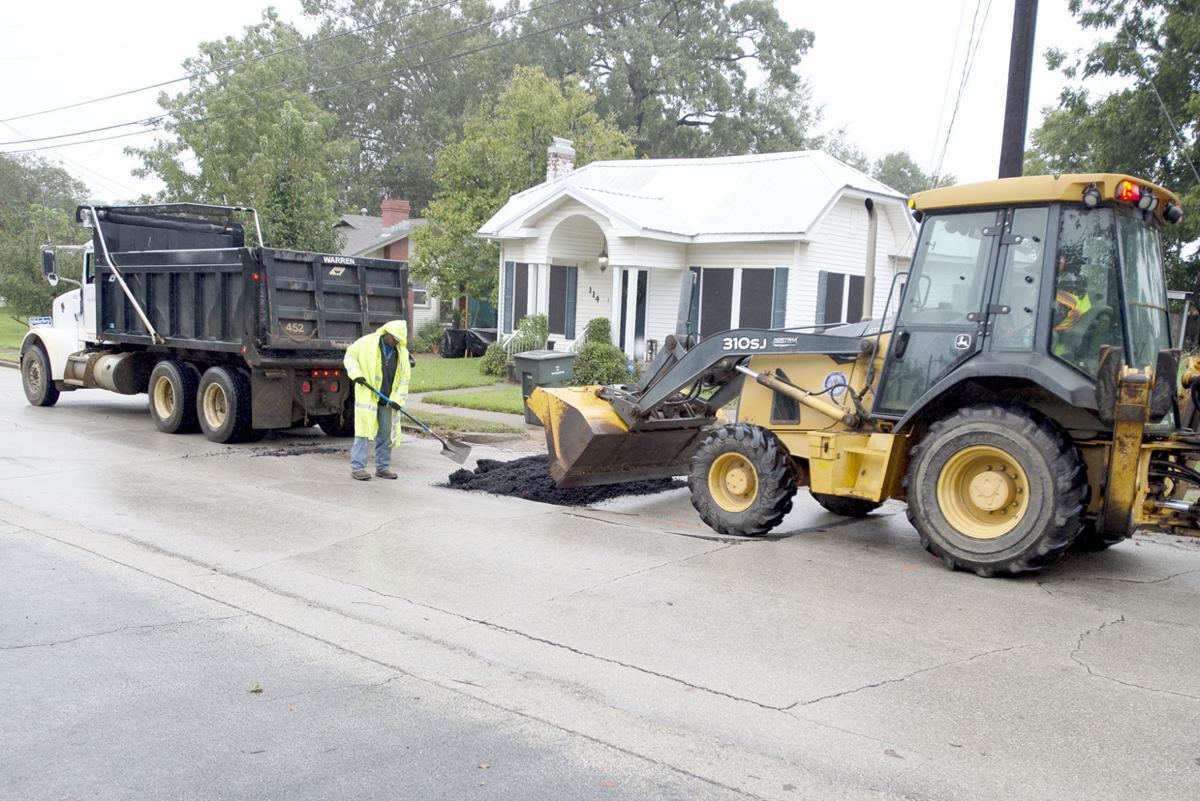 Sinkhole repair on Hughes St., Ocr. 16, 2018.