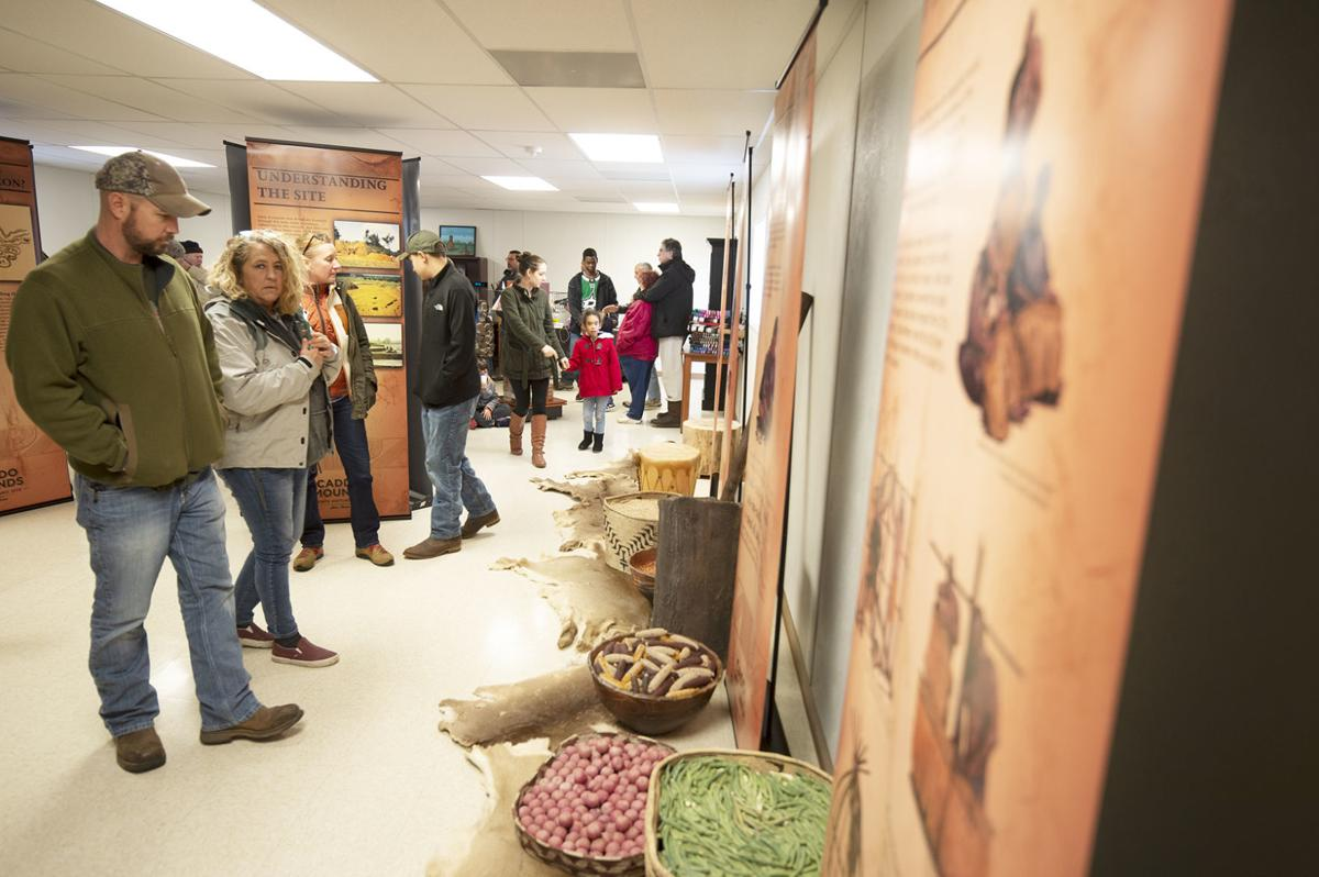 Caddo Mounds State Historic Site reopening ceremony, Jan. 11, 2020.