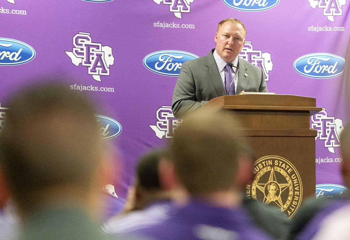 Press conference with new SFA Athletic Director Ryan Ivey, Thursday, July 12, 2018.