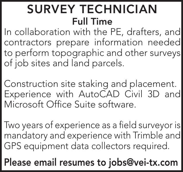 SURVEY TECHNICIAN