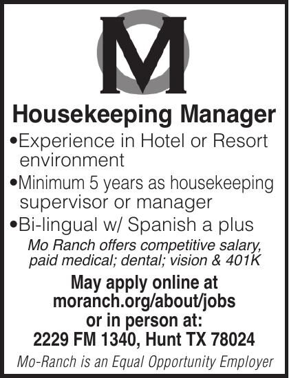Housekeeping Manager