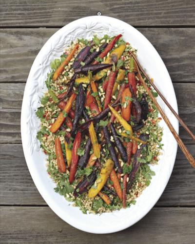 Roasted Carrot and Israeli Couscous Salad With Lemon Gremolata