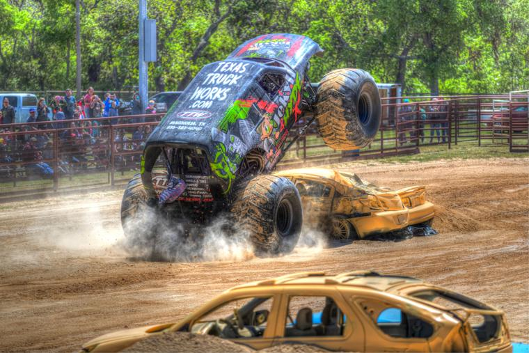 Monster truck jumps