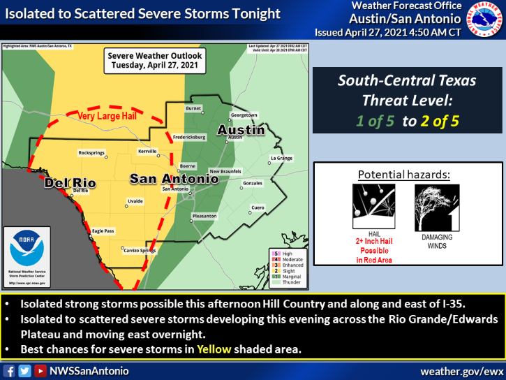 Severe storm risks late Tuesday
