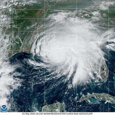 NOAA Satellite Image of Hurricane Sally Tuesday afternoon - 1:00 p.m.