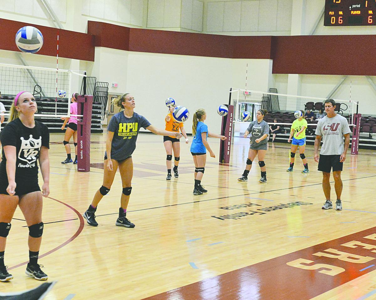 Unique volleyball camp underway at Schreiner