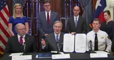 Governor Greg Abbott describes his impending executive order