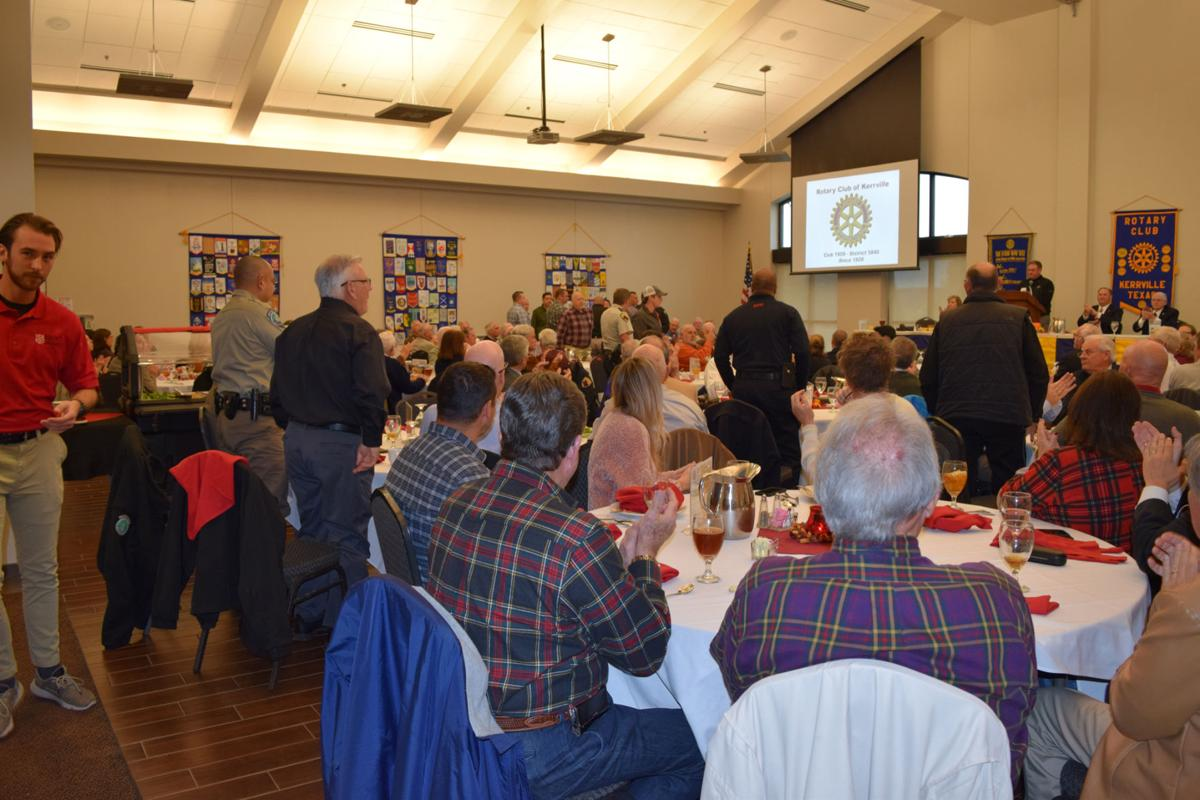 Peace officers recognized at Rotary Club