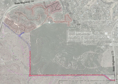 Proposed collector road
