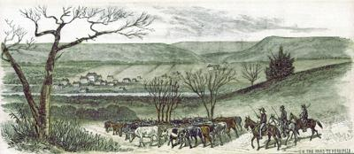 Illustrations published in New York paper depict 1881 cattle drives through our town