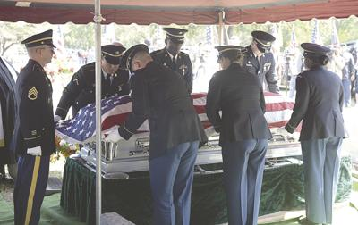 Community pays its respects to fallen soldier