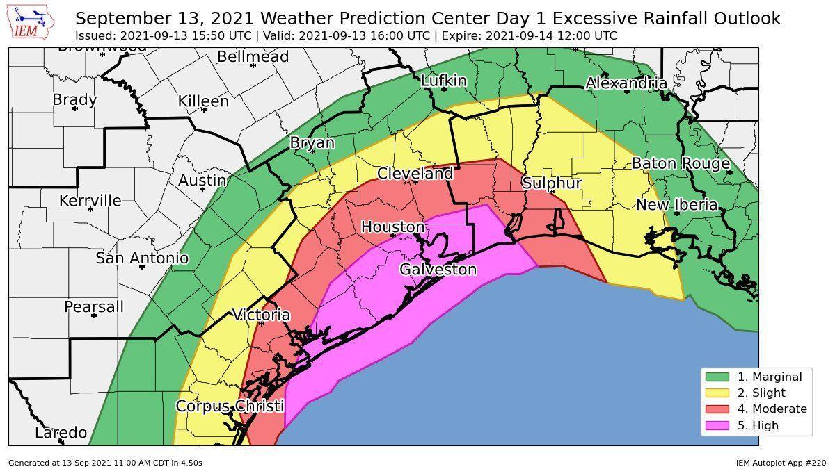 Excessive rainfall Monday