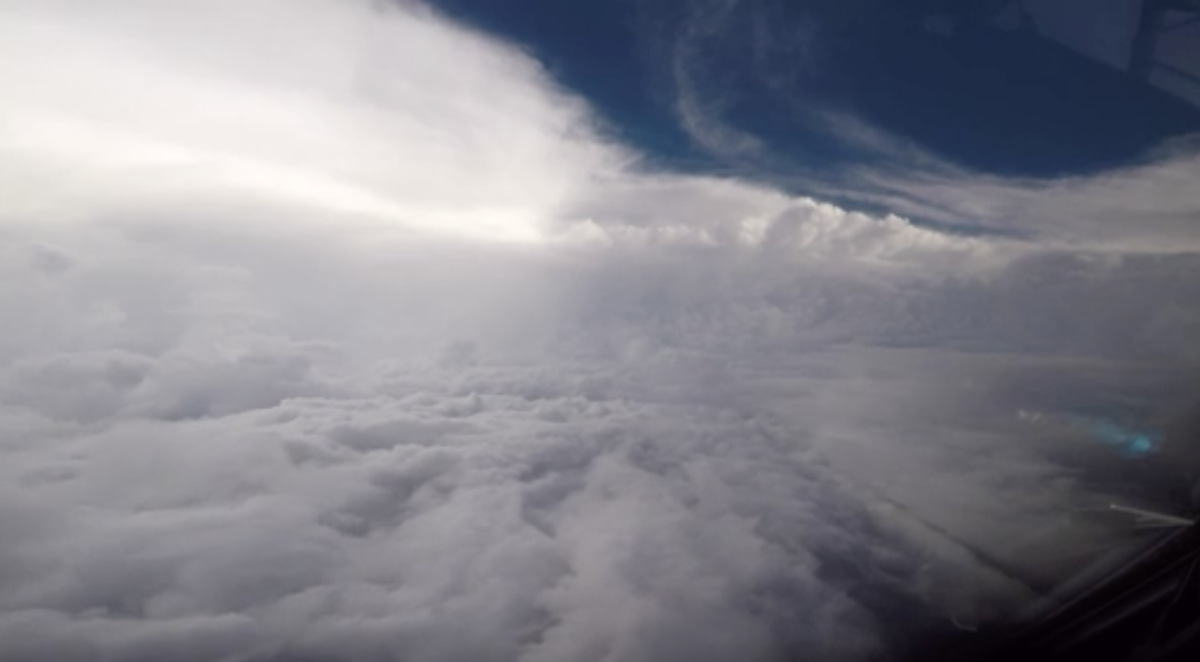 Hurrican Florence as seen from C-130