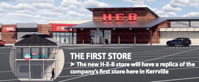 New H-E-B to include replica of original store