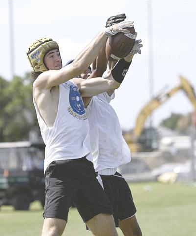 Colten Drake snags a catch