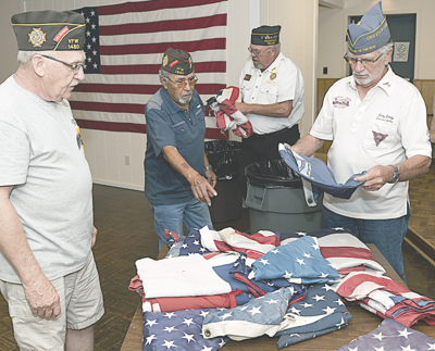 Flags being collected for retirement