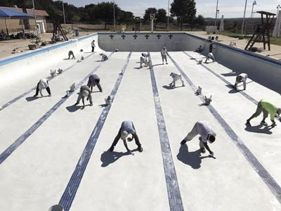 Olympic Pool re-plastered