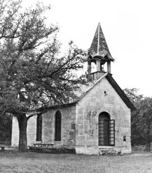Pollys Chapel on Privilege Creek, Bandera County