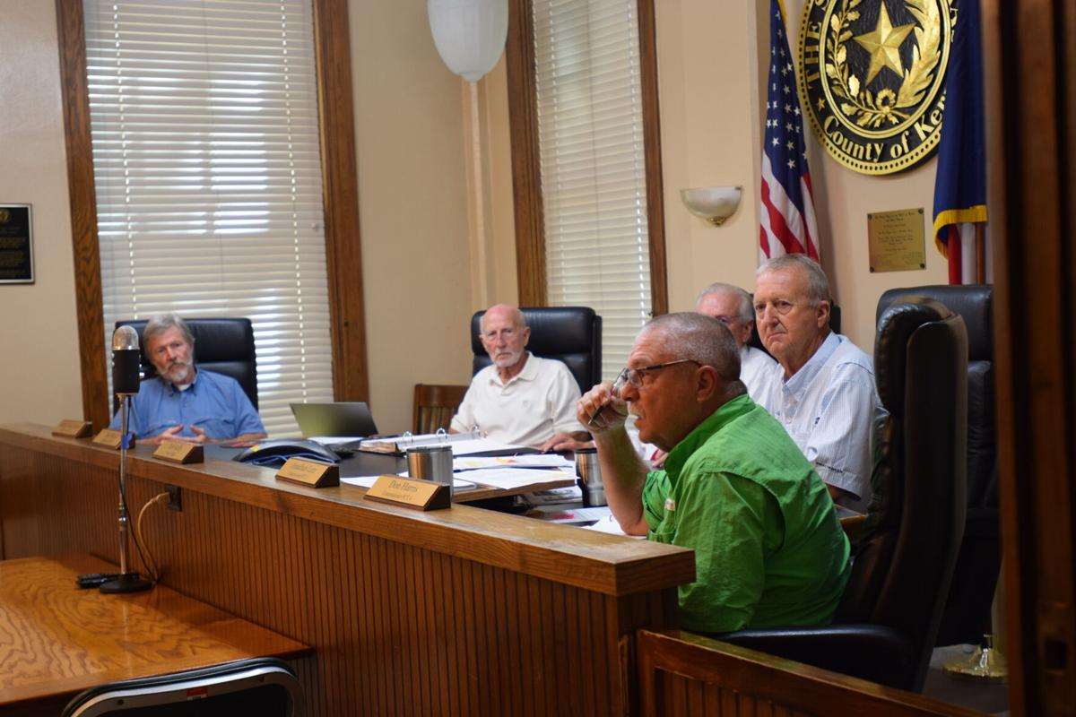 Kerr County Commissioners Court image; Belew, Moser, Kelly, Letz, Harris