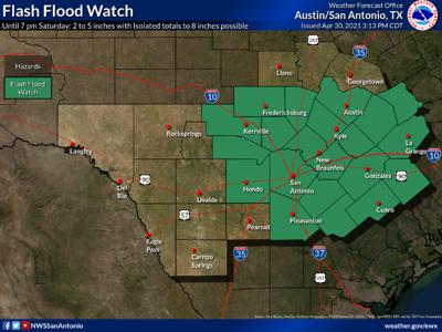 Flash Flood Watch Friday night through Saturday evening