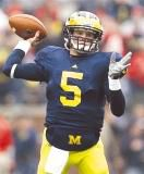 Michigan's Rodriguez says Forcier earned his wings