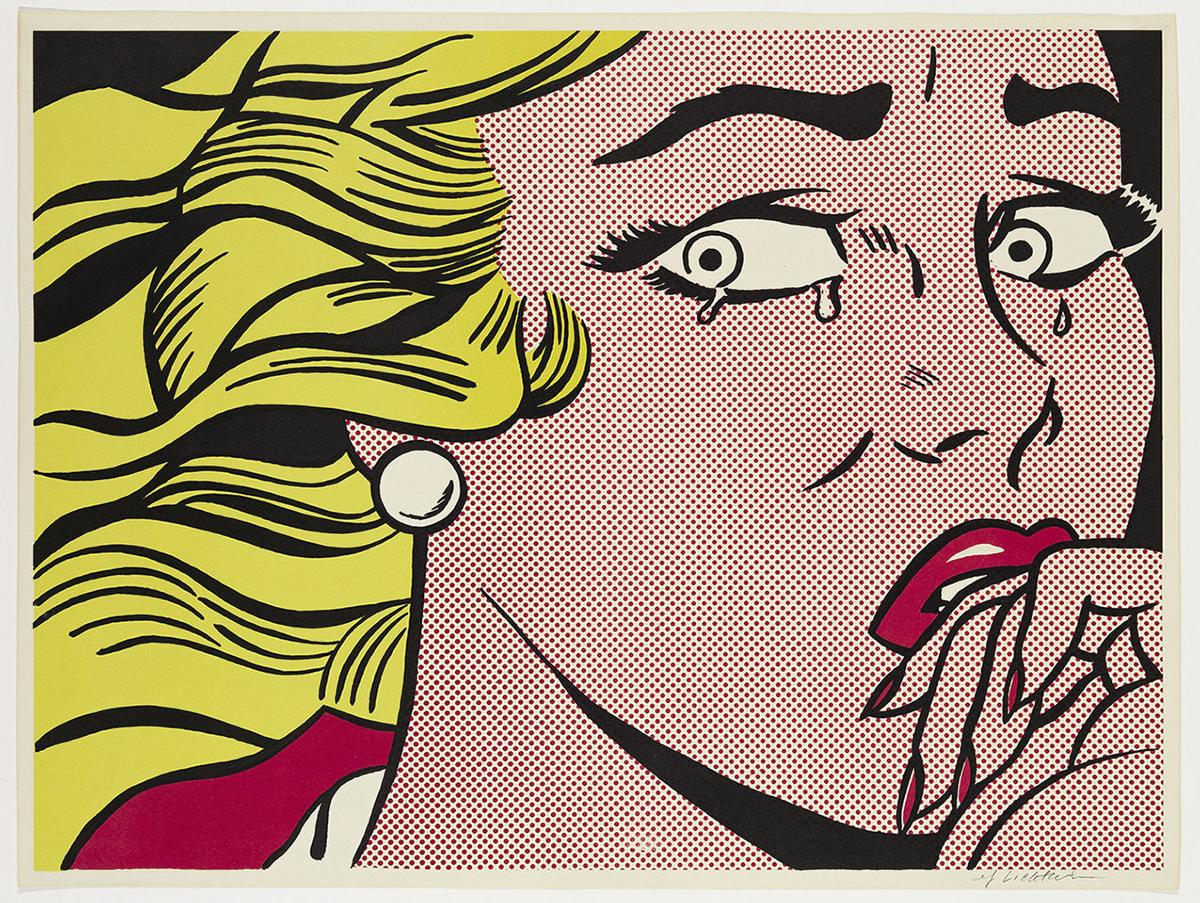 Crying Girl-Pop Art